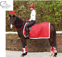 Showquest Christmas Novelty EXERCISE SHEET Red with White Fur Trim FREE P&P