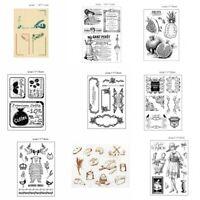 Hand DIY Scrapbooking Rubber Card Album Decor Fashion Stamp SiliconeTemplate