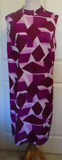 Vintage Shades of Purple Polyester Knit Dress XL B46 Shift Size 24 1/2