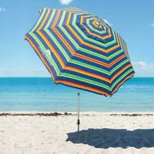 Tommy Bahama 8' Beach Umbrella with Tilt - Multi Color Stripe - Brand New 2020!