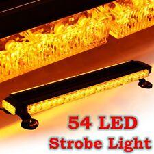 "26.5"" Inch Amber 54W LED Traffic Advisor Double Emergency Flash Strobe Light Bar"