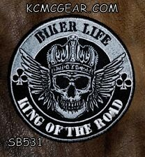 Biker Life King Of The Road Pequeño para Motero Chaleco Motocicleta Patch
