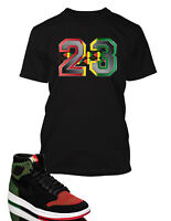 23 Graphic Tee shirt To match Air Jordan 1 Retro High Flyknit BHM Shoe Graphic