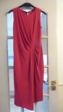 RASPBERRY SLEEVELESS SWAG DRESS FROM MARKS & SPENCER - SIZE 16 - BNWT