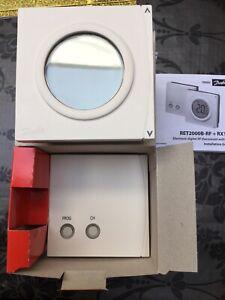 DANFOSS RET200B-RF + RX1S DIGITAL THERMOSTAT WIRELESS, LCD, CHRONO **VAT INC**