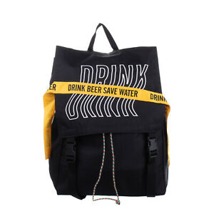 DRINK BEER SAVE WATER x TRITONE Backpack Large Embroidered 'DRINK' Logo Tape