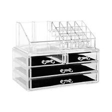 Make-Up Holder Case Box Jewelry Storage 16 Compartment & 4 Drawers Organizer
