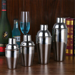 Stainless Steel 250/350ml Cocktail Shaker Bartender Cocktail Martini Mixer Tools