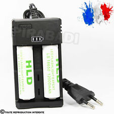 2 PILES ACCU RECHARGEABLE 18650 3.7v 12000mAh BATTERY BATTERIE + CHARGEUR RS-93
