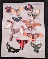 Auntie's Attic party mask parade plastic canvas pattern bklt-Halloween costumes