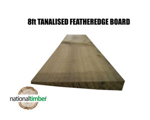 (Pack of 50) 8ft (2.4m) Feather edge Boards Pressure Treated Brown