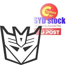 Transformer logo decepticon car laptop DIY sticker decal design multi color 20cm