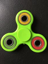 green multi ring triple finger hand spinner fidget spinning toy steel bearing