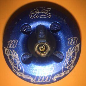 O.S. Classic Blue Nitro Engine Head for .18TM (21914000) - Traxxas Revo/T-Maxx