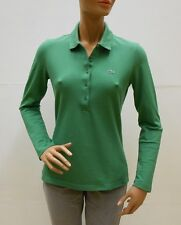 POLO LACOSTE DONNA MANICA LUNGA PF1775 mis. 44 IT (40 FR) col. 5N1 verde