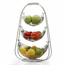Taylor & Brown 3 Tier Chrome Swinging Basket Rack