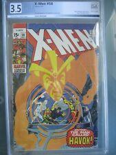 X-Men #58 PGX 3.5 (like CGC CBCS) Marvel Comics 1969 1st app Havok in costume