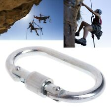 Alloy Steel 25KN Carabiner Safety Hook Rappelling Screw Lock Outdoor Climb Tool