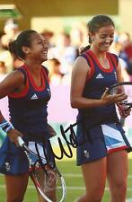 TENNIS: HEATHER WATSON SIGNED 6x4 LONDON 2012 OLYMPICS PHOTO+COA **PROOF**