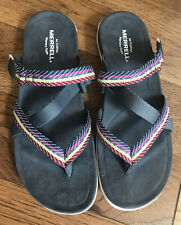 "Merrell Women's District Mendi Thong Sandal Slipper Shoe ""Turbulence"" Size 9 NEW"