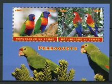 Chad 2018 CTO Parrots Macaws 2v M/S Perroquets Parrot Birds Stamps