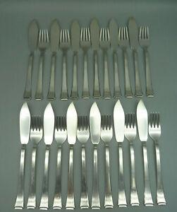 QBD BAUHAUS WMF 2500 Besteck 90er Silber 24x Fischbesteck Fisch Messer Gabel RAR