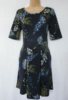 new NEXT BNWT Ladies navy floral textured material casual day skater dress  12