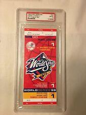 1998 World Series Unused Ticket Game 1 PSA 10 New York Yankees