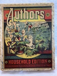 Vintage Authors Card Game Household Edition 1930's 40's