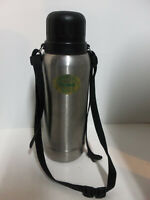 Vintage LL Bean Insulated Travel Steel Cold or Hot Thermos w Carry Strap and Cup