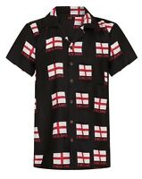 England Shirt Mens Hawaiian Football Euro Saint Georges Stag Party Britain UK!