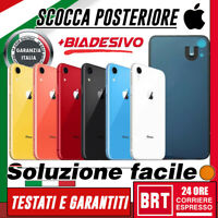 VETRO+BIADESIVO BACK COVER SCOCCA POSTERIORE per APPLE IPHONE XR HOUSING RETRO