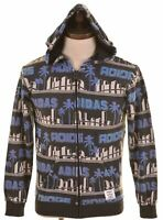 ADIDAS Mens Hoodie Sweater XS Multicoloured Cotton  HD28