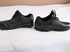 SAS Womens Free Time Black Shoes Size 10 W WITH POWERSTEP ORTHOPEDIC LINERS GUC