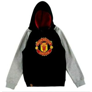 manchester united Black and Grey Sweaters & Hoodies Brand New With Tag Size L