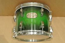 """ADD this PEARL SESSION CUSTOM GREEN BURST 10"""" TOM to YOUR DRUM SET TODAY! #K6"""