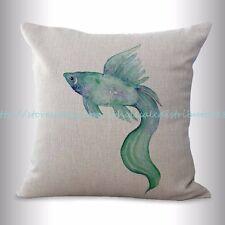 US SELLER, beach nautical sea life cushion cover fish throw pillow case covers