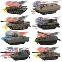 4D 8pcs Assemble Tank Heavy Weapons Armor 1/72 Plastic Model Kit Battle Toy Gift