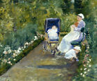 Children in A Garden with Nursemaid 1878 Painting By Mary Cassatt Repro FREE S/H