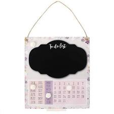 Floral Shabby Chic Hanging Sign Chalk 'To Do List' Calendar Daily Planner