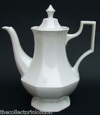 Johnson Brothers Heritage White Lg 2.25pt Coffee Pot & Lid 25cm Looks in in VGC