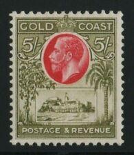 Gold Coast 1928 SG112  5/-  mounted mint