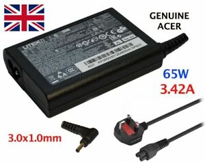 Genuine 65W ACER ASPIRE P3 S5 S7 S7-191 S7-391 Ultrabook W7 3.0x1.0mm Charger UK