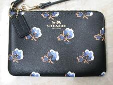 Coach Wristlet Bramble Rose Corner Zip New w Tags..Blue Multi-Color Many Uses!
