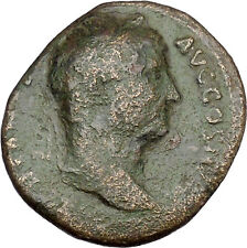 HADRIAN Bisexual Emperor BIG Ancient Roman Coin Fortuna Luck Cult Wealth  i45722