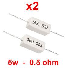 Resistenze 5W 390K 5 watt a filo in cemento lotto 5 pezzi