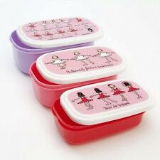 Set of 3 Ballet Design Snack Boxes