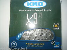 New KMC Boxed 9 speed cycle / bike chain X9.73 Shimano / Campagnolo compatible