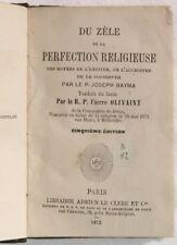 1872 BAYMA ZELO PERFEZIONE RELIGIOSA VOCAZIONE CASTITA