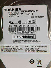1 to TOSHIBA MK 1059 gsmw hdd2k11 W rl01 T gl0001a hårddisk s/n:z3b1j132fsh1 EC. A